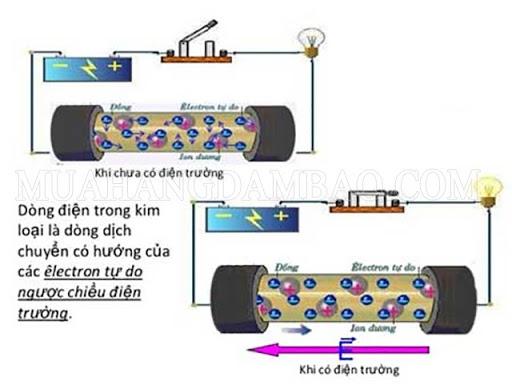 Đặc điểm của dòng điện trong kim loại