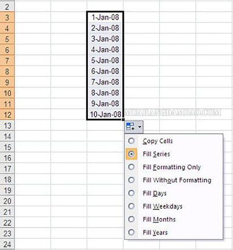 Chuyển đổi qua lại các tab làm việc trên Excel
