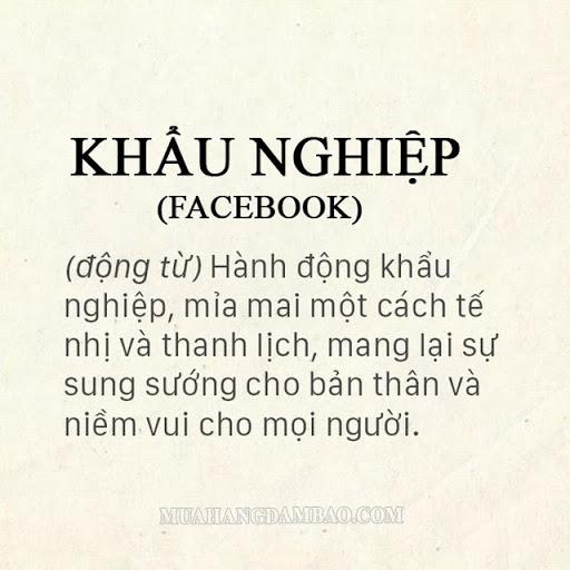 Khẩu nghiệp trên Facebook có ý nghĩa nhẹ nhàng hơn