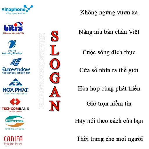 Slogan của một số thương hiệu lớn Việt Nam