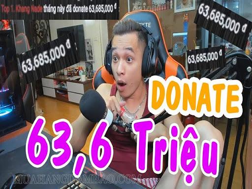 Độ Mixi được donate 63,6 Triệu từ fan khủng.