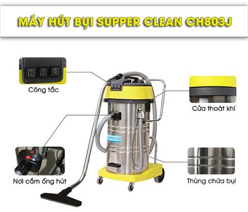 Máy hút bụi khô ướt Supper Clean CH803