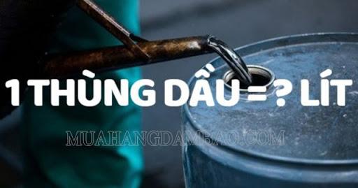 Thùng dầu là Đơn vị quốc tế dùng để cho thể tích dầu
