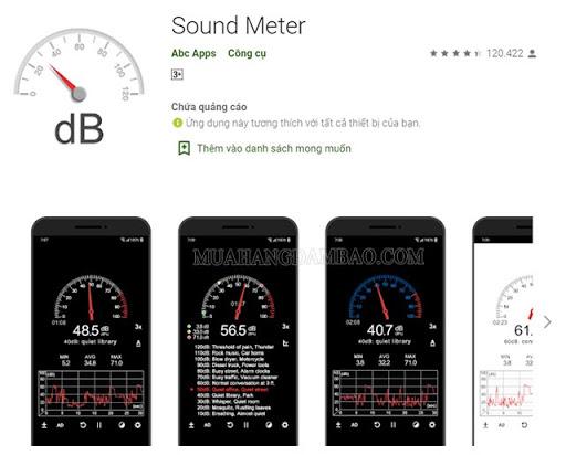 Ứng dụng Sound Meter dành cho Android