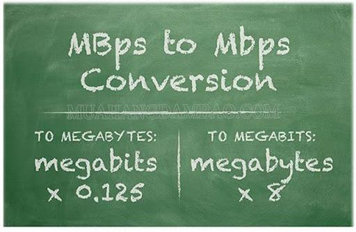 Cách đổi MBps to Mbps (mbps to mb/s)