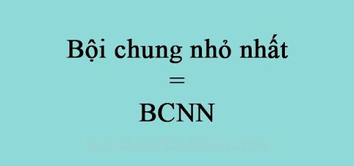 Bội số chung nhỏ nhất (BCNN)