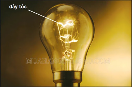 Bóng đèn dây tóc phát sáng nhờ tác dụng phát sáng của dòng điện