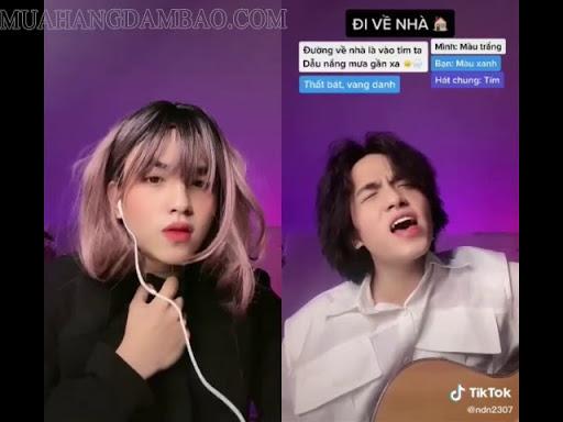 Video song ca sử dụng tính năng Duet trên Tik Tok.
