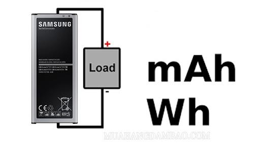 mAh và Wh đều là đơn vị đo năng lượng pin