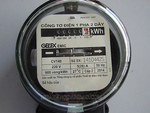 Thông số kWh trong các công tơ điện sinh hoạt