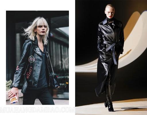Áo khoác da dáng ngắn và dáng dài mang hơi hướng rock, nổi loạn và cá tính