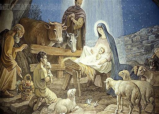 Tranh minh họa Chúa Jesu ra đời.