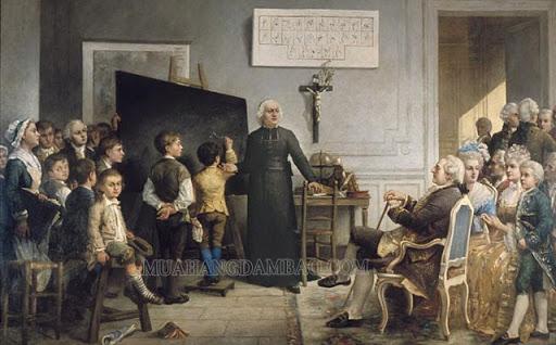 Charles Michèle de l'Epée miệt mài dạy học cho người khiếm thính