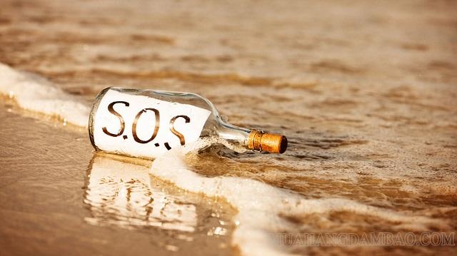 Chữ SOS để phát tín hiệu cầu cứu