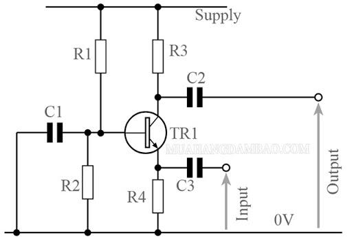 Cách mắc transistor kiểu B chung