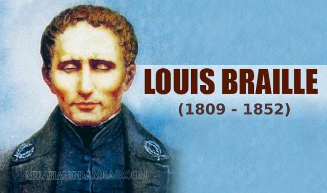 Chân dung của vĩ nhân Louis Braille