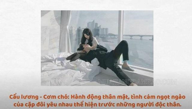 Cẩu lương là hành động thân mật tình cảm của các cặp đôi