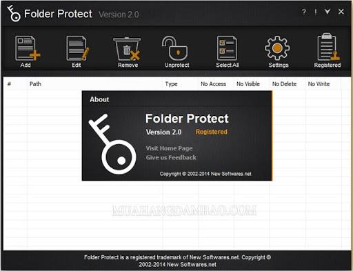 Phần mềm Folder Protect