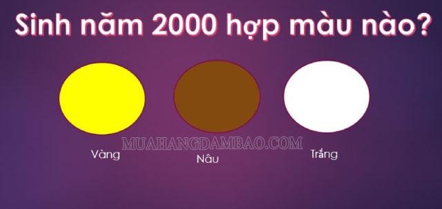 Người sinh năm 2000 mệnh Kim hợp với màu vàng, nâu và trắng