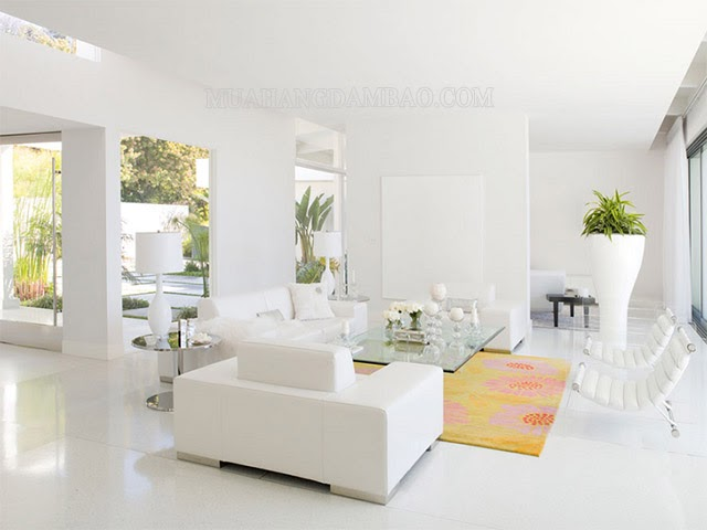 Sơn nhà màu trắng sáng giúp tăng năng lượng tích cực