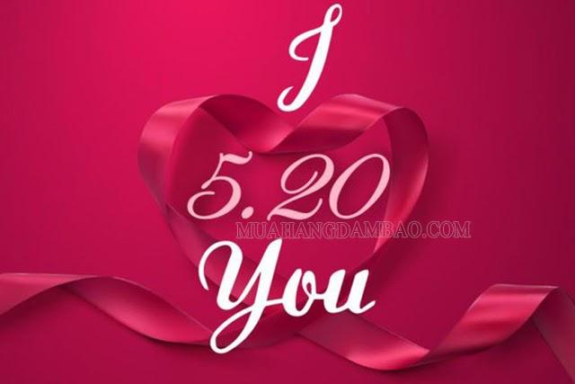520 có nghĩa là Em yêu Anh/Anh yêu em
