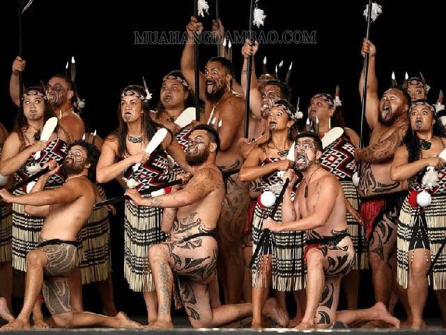 Tộc người Maori đặc trưng của New Zealand