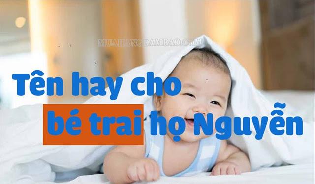 Một số cách đặt tên ý nghĩa cho bé trai họ Nguyễn
