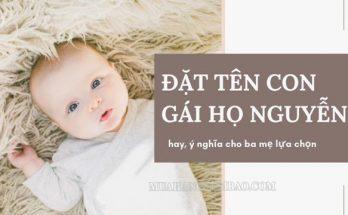 Đặt tên cho con gái họ Nguyễn