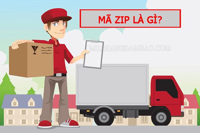 Mã zip xác định vị trí đến của thư tín và bưu phẩm