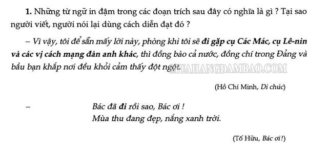 Ví dụ về phép nói giảm nói tránh trong thơ văn